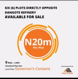 Commercial Land for sale Opposite Dangote Refinery /jetty Free Trade Zone Ibeju-Lekki Lagos