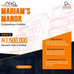 Residential Land Land for sale Christal villa Marian's Manor   Akpabuyo Cross River
