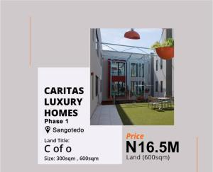 Commercial Land for sale Caritas Luxury Homes Phase 1 Off Monastery Road Behind Novare Mall Shoprite Sangotedo Ajah Lagos