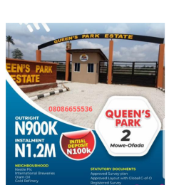 Residential Land Land for sale Near Nestle and International Breweries Mowe  Ofada Obafemi Owode Ogun