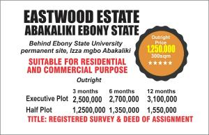 Mixed   Use Land Land for sale Izza mgbo Abakaliki Ebonyi