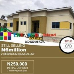 2 bedroom Detached Bungalow House for rent Mowe Ofada Mowe Obafemi Owode Ogun