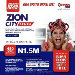 Residential Land Land for sale Zion City Estate Benin Abraka Road Avbiakagba Town Ikpoba Okha Lga Central Edo