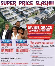 Serviced Residential Land Land for sale Divine Grace Luxury Gardens Okun Ojeh village by Alatise Ibeju-Lekki Lagos  Alatise Ibeju-Lekki Lagos