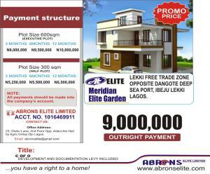 Mixed   Use Land Land for sale Meridian Elite Garden Estate, Located Opposite Dangote Deep Sea Port Iberekodo Ibeju-Lekki Lagos