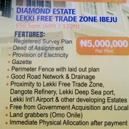 Commercial Land Land for sale Diamond Estate Along Lekki Free Trade Zone with C of O  Free Trade Zone Ibeju-Lekki Lagos