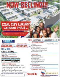 Residential Land Land for sale Coal City Luxury Gardens, Emene, Enugu State Enugu Enugu