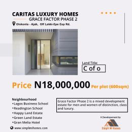 Residential Land Land for sale Caritas luxury homes grace factor phase 2 Olokonla Ajah Lagos