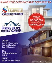 Serviced Residential Land Land for sale Okun oje village By Alatise  Alatise Ibeju-Lekki Lagos