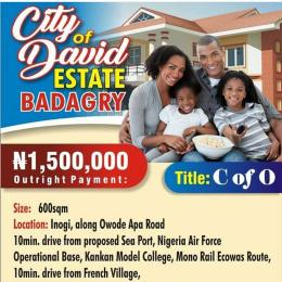 Mixed   Use Land Land for sale City of David estate Badagry Badagry Badagry Lagos