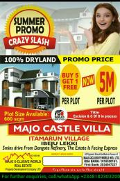 Commercial Land Land for sale Itamaru Village, 5 Minuets Drive From Dangote Refinery Free Trade Zone Ibeju-Lekki Lagos