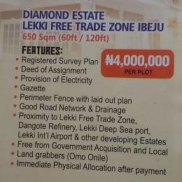 Mixed   Use Land Land for sale Diamond estate lekki free trade zone ibeju-lekki,Lagos  Free Trade Zone Ibeju-Lekki Lagos