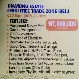 Commercial Land Land for sale Diamond Estate Lekki Free Trade Zone Phase 2 Free Trade Zone Ibeju-Lekki Lagos