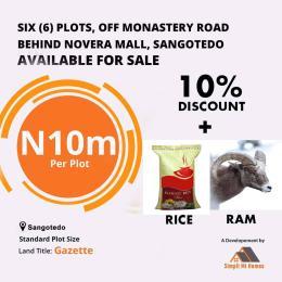 Mixed   Use Land Land for sale Off Monastery Road, Behind Novare Mall Shoprite, Sangotedo Ajah Lekki Lagos.  Monastery road Sangotedo Lagos