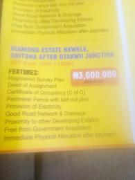 Mixed   Use Land Land for sale Diamond Estate Nkwele Onitsha Awka South Anambra