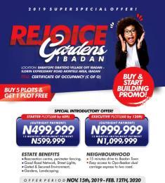Land for rent Akinyele Oyo