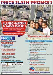 Land for sale Alaudo Estate Phz1 Ext Ogbaku Owerri Imo