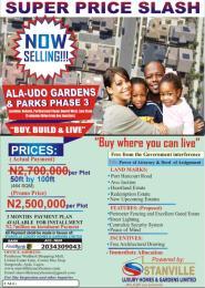 Residential Land for sale Alaudo Gardens Owerri Ph Rd, Nekede Owerri Imo