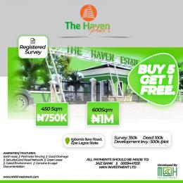 Residential Land for sale Igbonla Epe Epe Road Epe Lagos
