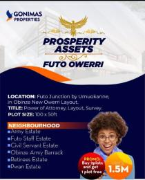 Land for sale Obinze New Layout Futo Junction Owerri Imo