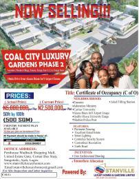 Commercial Land Land for sale COAL CITY LUXURY GARDENS, PHZ 2 NKUBOR VILLAGE BY CARITAS AND GODFREY OKOYE UNIVERSITIES EMENE ENUGU Enugu Enugu