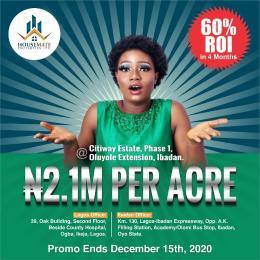Residential Land Land for sale Ayegun Road Olomi Ibadan Oyo