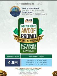 Commercial Land for sale Orimedu Orimedu Ibeju-Lekki Lagos