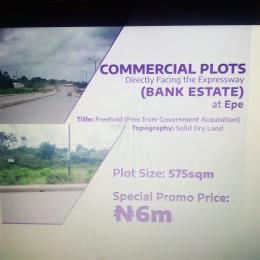 Commercial Land Land for sale Bank Estate, Directly Facing the Expressway  Epe Road Epe Lagos