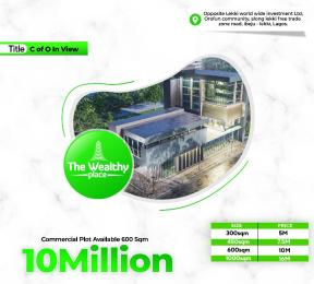 Commercial Land Land for sale The wealthy place, orofun Community  Free Trade Zone Ibeju-Lekki Lagos