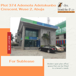 Office Space Commercial Property for rent Plot 374 Adetokunbo Ademola Crescent, Wuse 2, Abuja Wuse 2 Abuja