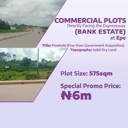 Commercial Land Land for sale Directly Facing The Express Road Epe Road Epe Lagos