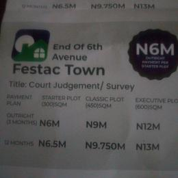 Residential Land Land for sale End of 6th Avenue Festac Town Orile Lagos