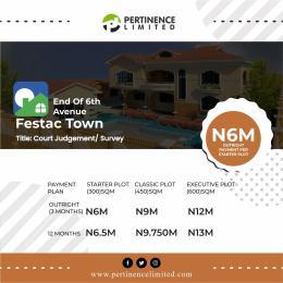 Land for sale End of 6th Avenue Festac town Festac Amuwo Odofin Lagos