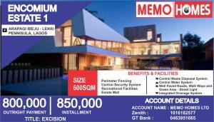 Residential Land for sale Encomium Estate 2 Arapagi Oloko Ibeju-Lekki Lagos