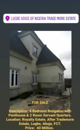 4 bedroom Detached Bungalow House for sale Royalty Estate, Lugbe-Abuja. Lugbe Abuja