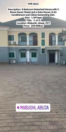 8 bedroom Detached Duplex House for sale Mabushi-Abuja. Mabushi Abuja