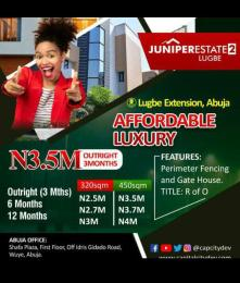 Mixed   Use Land for sale Juniper Estate, Instant Allocation, Buy And Build Lugbe Abuja