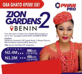 Residential Land for sale Zion Garden With Survey Ukpoba Edo