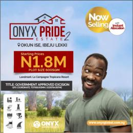 Serviced Residential Land for sale Okun Ise Just 2 Minutes From Lacampaingne LaCampaigne Tropicana Ibeju-Lekki Lagos