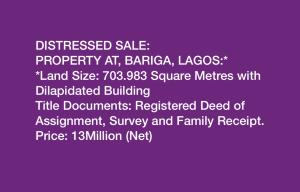 Land for sale Bariga Shomolu Lagos