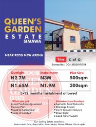 Residential Land Land for sale Simawa Arepo Ogun