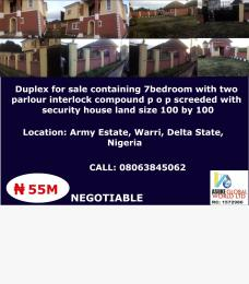 7 bedroom House for sale Army estate ,Warri Delta state Warri Delta