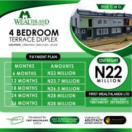 4 bedroom Terraced Duplex House for sale Wealthland Origanrigan Ibeju-Lekki Lagos