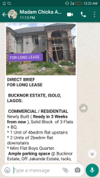 5 bedroom Flat / Apartment for rent Buckner estate  Bucknor Isolo Lagos