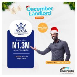 Mixed   Use Land Land for sale Okun Ise village and is situated on Folu-ise excision block layout, After Eleko Eleko Ibeju-Lekki Lagos