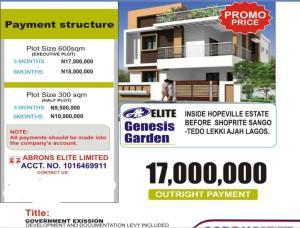 Residential Land for sale Hope Villa Befor Shoprite Sangotedo Lagos