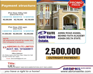 Residential Land Land for sale ANWAI Road Asaba Asaba Delta