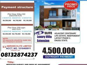Residential Land Land for sale Adjacent Centinary Life Estate Independence Layout Phase 2 Enugu Enugu Enugu