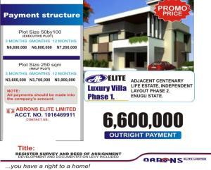 Residential Land Land for sale Centinary Life Estate Independence Layout Enugu Enugu