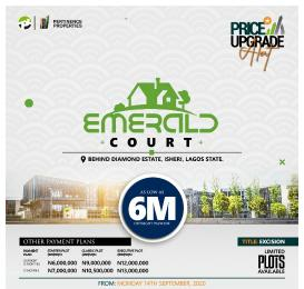 Residential Land Land for sale Emerald Court, Isheri is 90 seconds off the express road 5 minutes away from Isheri - Igando Roundabout 15 minutes from Lagos State University (LASU) Slightly Sloped Isheri Egbe/Idimu Lagos